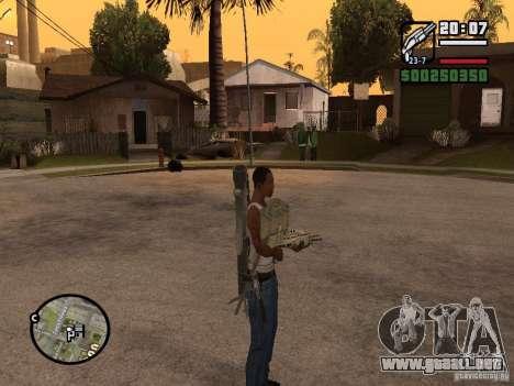 El arma a sus espaldas para GTA San Andreas tercera pantalla