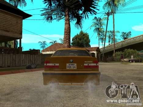 BMW e34 Drift Body para GTA San Andreas vista posterior izquierda