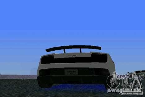 Lamborghini Gallardo LP570 SuperLeggera para GTA Vice City visión correcta