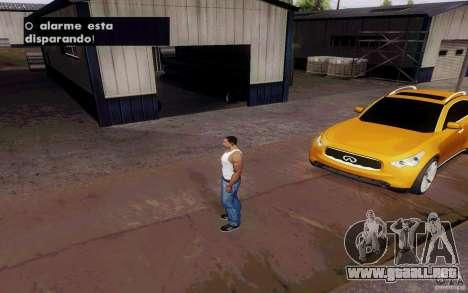 Alarme Mod v4.5 para GTA San Andreas quinta pantalla