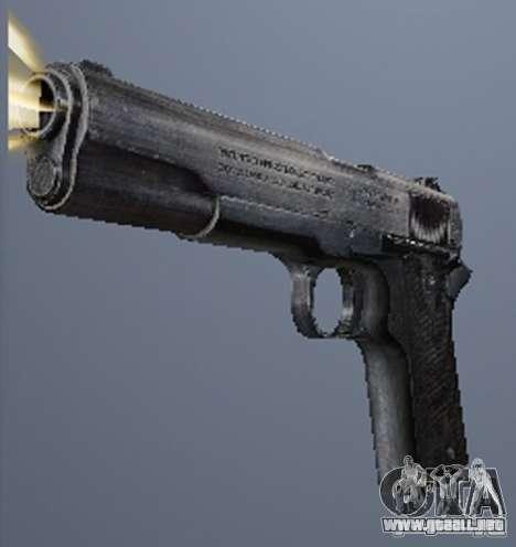 Un conjunto de armas de acosador V2 para GTA San Andreas quinta pantalla