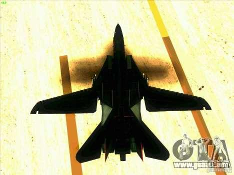 F-14 Tomcat Razgriz para vista inferior GTA San Andreas