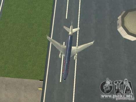 McDonell Douglas MD11 American Airlines para la vista superior GTA San Andreas