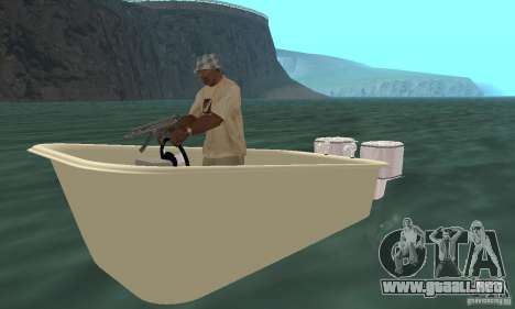 Bathtub Dinghy para GTA San Andreas left