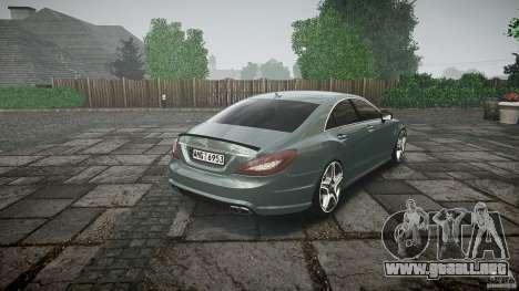 Mercedes Benz CLS 63 AMG 2012 para GTA 4 vista superior
