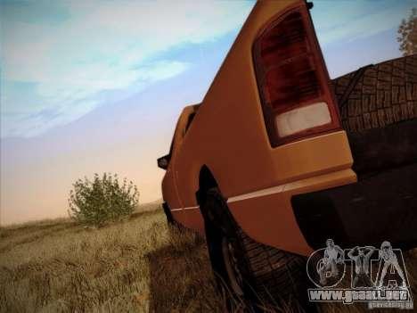 Dodge Ram 1500 4x4 para GTA San Andreas vista hacia atrás