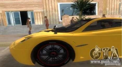 Pagani Huayra para GTA Vice City vista lateral izquierdo