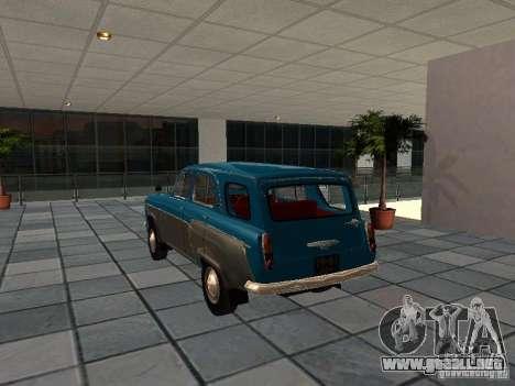 Moskvitch 423 para GTA San Andreas vista posterior izquierda