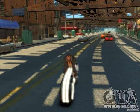 Motocicleta del trono (neón blanco) para GTA 4 visión correcta
