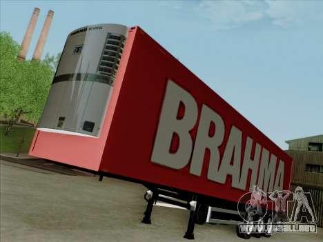 Trailer de Scania R620 Brahma para GTA San Andreas vista posterior izquierda