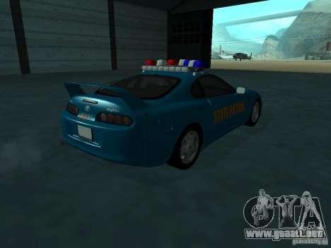 Toyota Supra California State Patrol para la visión correcta GTA San Andreas