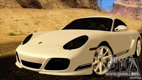 Porsche Cayman R 987 2011 V1.0 para GTA San Andreas interior