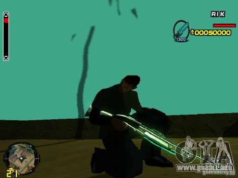 Blue weapons pack para GTA San Andreas segunda pantalla