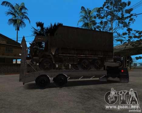KrAZ 255 + remolque artict2 para visión interna GTA San Andreas