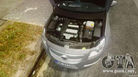 Opel Insignia Sports Tourer 2009 para GTA 4 vista hacia atrás