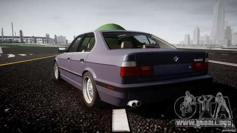 BMW 5 Series E34 540i 1994 v3.0 para GTA 4 Vista posterior izquierda