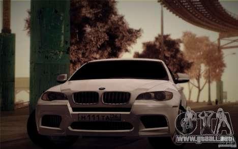 BMW X6M E71 para GTA San Andreas vista posterior izquierda