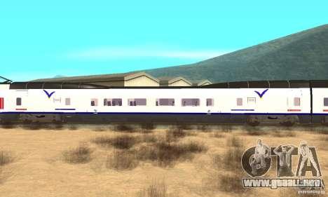 Express Train para GTA San Andreas vista posterior izquierda