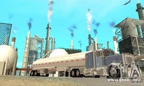 Peterbilt 379 Custom And Tanker Trailer para vista inferior GTA San Andreas