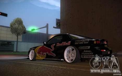 Mazda RX7 Madmikes Redbull para la visión correcta GTA San Andreas