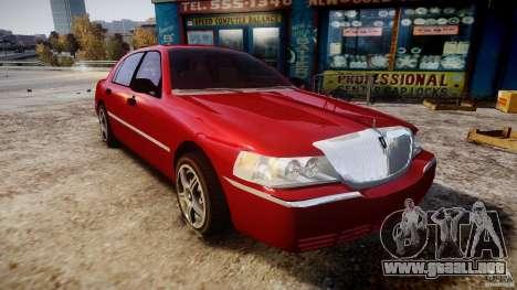 Lincoln Town Car 2003 para GTA 4 vista hacia atrás