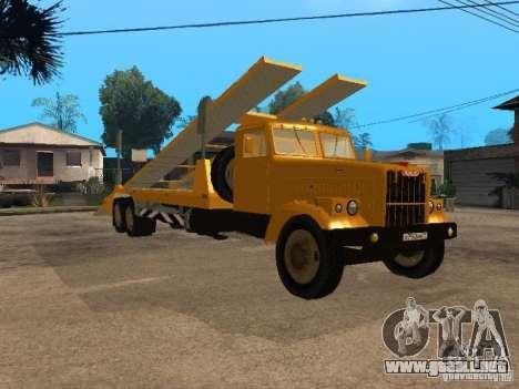 Transportador automático KrAZ 255 para GTA San Andreas vista posterior izquierda