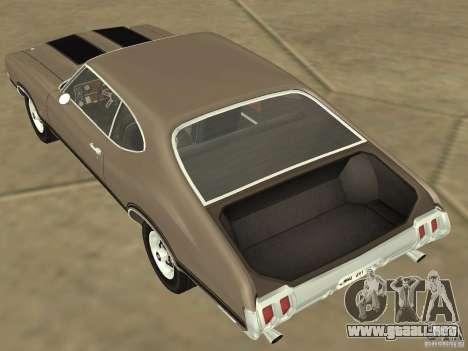 Oldsmobile 442 Cutlass 1970 para visión interna GTA San Andreas