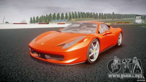 Ferrari 458 Italia 2010 para GTA 4 vista hacia atrás