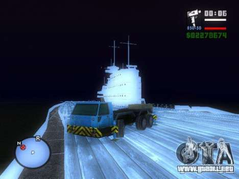 Split Second - Static Truck para GTA San Andreas vista posterior izquierda