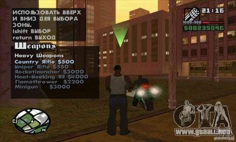 Gun Seller para GTA San Andreas octavo de pantalla