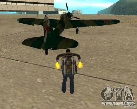 Il-2 m para GTA San Andreas vista posterior izquierda