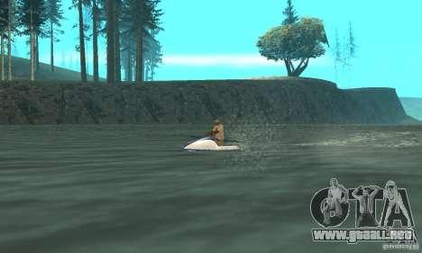 VCS Jetski para GTA San Andreas vista posterior izquierda