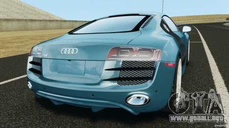 Audi R8 5.2 Stock Final para GTA 4 Vista posterior izquierda