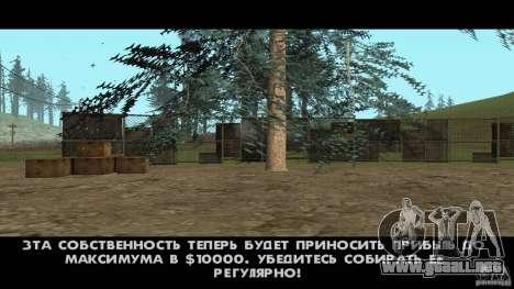 Realista apiario v1.0 para GTA San Andreas tercera pantalla