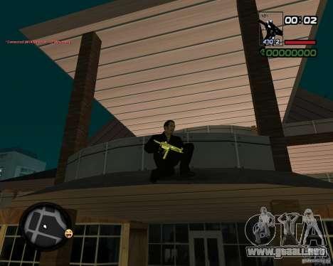 MP5 Gold para GTA San Andreas segunda pantalla