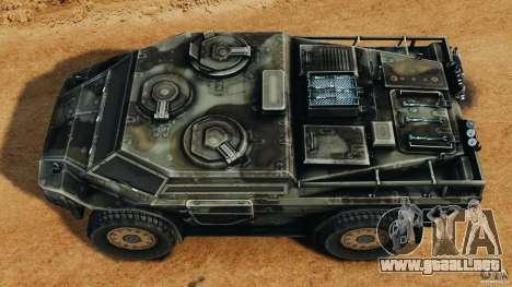 Armored Security Vehicle para GTA 4 visión correcta