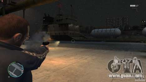 Arma-lanzacohetes para GTA 4 adelante de pantalla