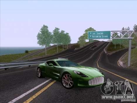 Aston Martin One-77 2010 para GTA San Andreas vista hacia atrás