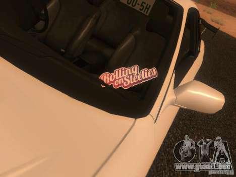 Nissan Skyline GTS R32 JDM para GTA San Andreas vista hacia atrás