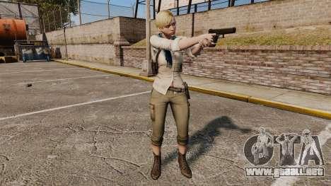 Sherry Birkin para GTA 4 adelante de pantalla