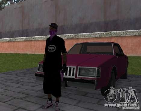 New Ballas Skin para GTA San Andreas sucesivamente de pantalla