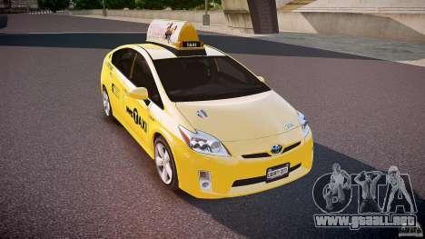 Toyota Prius NYC Taxi 2011 para GTA 4 vista lateral