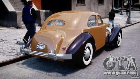 Cord 812 Charged Beverly Sedan 1937 para GTA 4 vista lateral