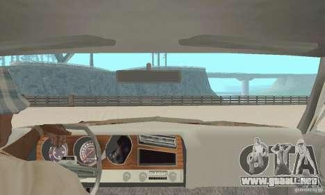 Pontiac LeMans 1970 Scrap Yard Edition para GTA San Andreas vista hacia atrás
