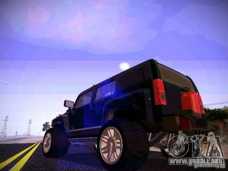 Hummer H3R para GTA San Andreas vista posterior izquierda