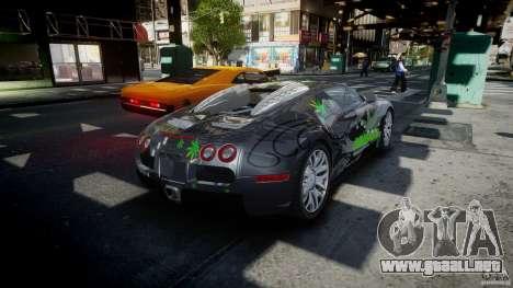 Bugatti Veyron 16.4 v1.0 new skin para GTA 4 vista lateral