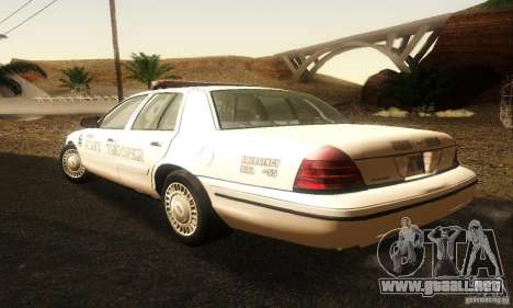 Ford Crown Victoria Neberska Police para GTA San Andreas left