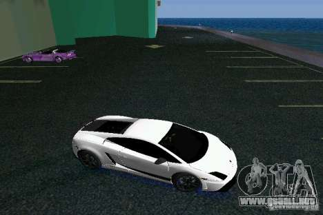 Lamborghini Gallardo LP570 SuperLeggera para GTA Vice City vista posterior