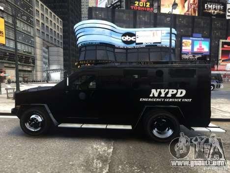 Lenco BearCat NYPD ESU V.1 para GTA 4 left