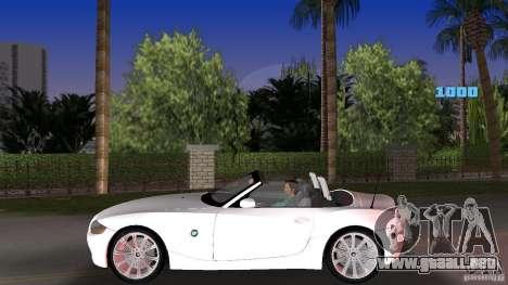 BMW Z4 2004 para GTA Vice City left